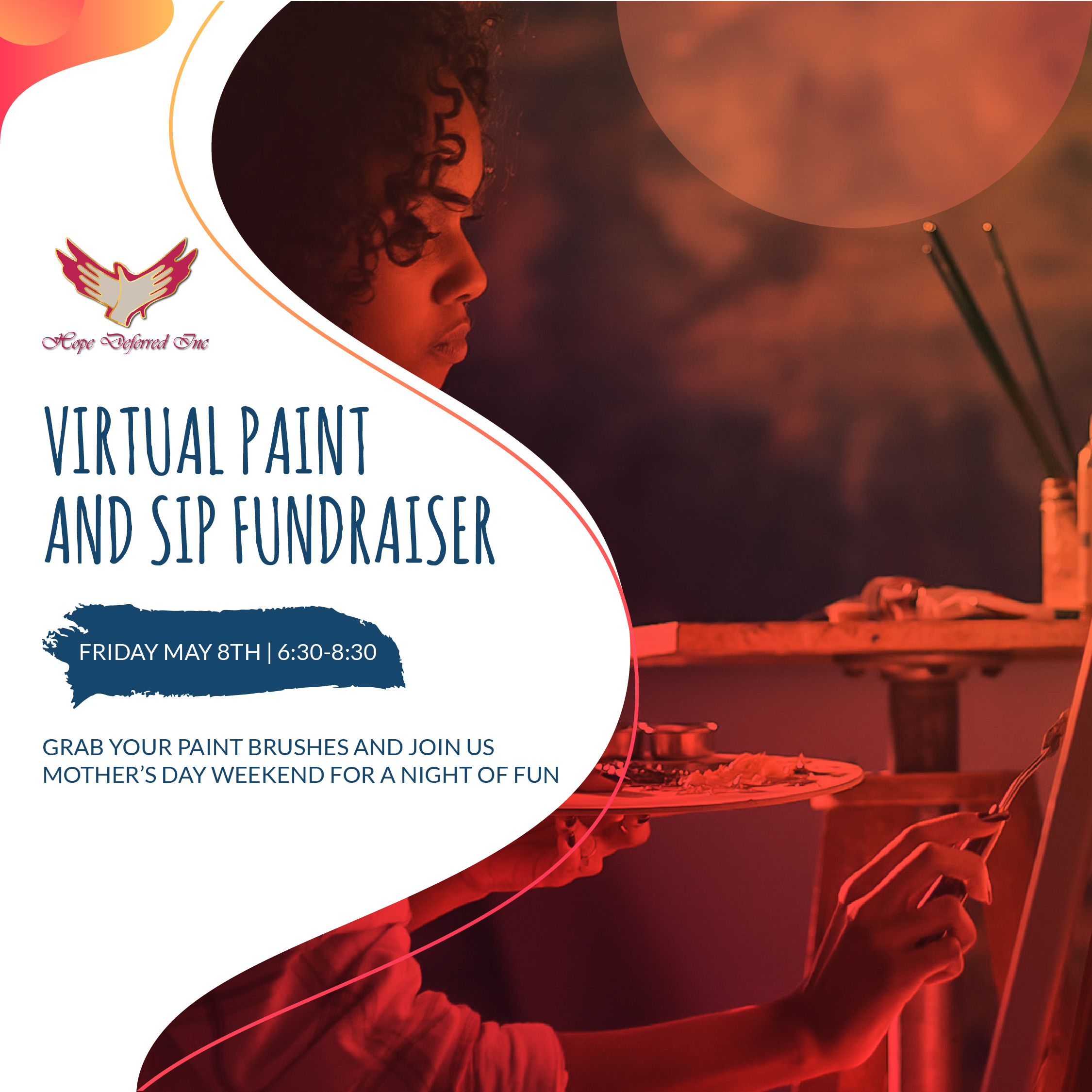 Virtual Paint and Sip Fundraiser